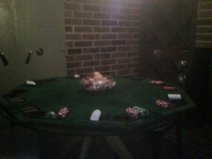 one of the poker tables